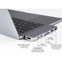 HYPER - THUNDERBOLT 3 USB-C HUB til den nye Macbook Pro