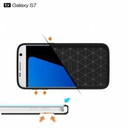 Samsung Galaxy S7 cover, børstet sort