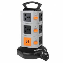 Haweel Universal socket Tower med USB