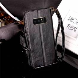 Kunst læder cover med kort plads til Galaxy Note 8