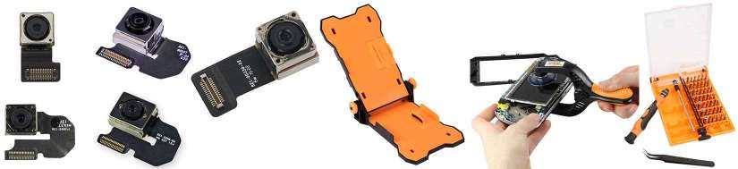 Foran og bak kamera sett for iPhone reparasjon