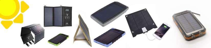 Solcelle opladere og Powerbanks til iPhone og iPads