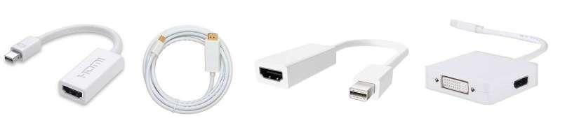 Mini DisplayPort (Thunderbolt) for HDMI-adaptere og-kabler